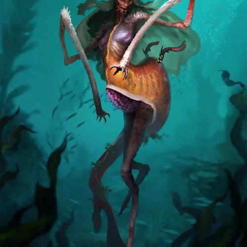 Weedy Mermaid by twchrist