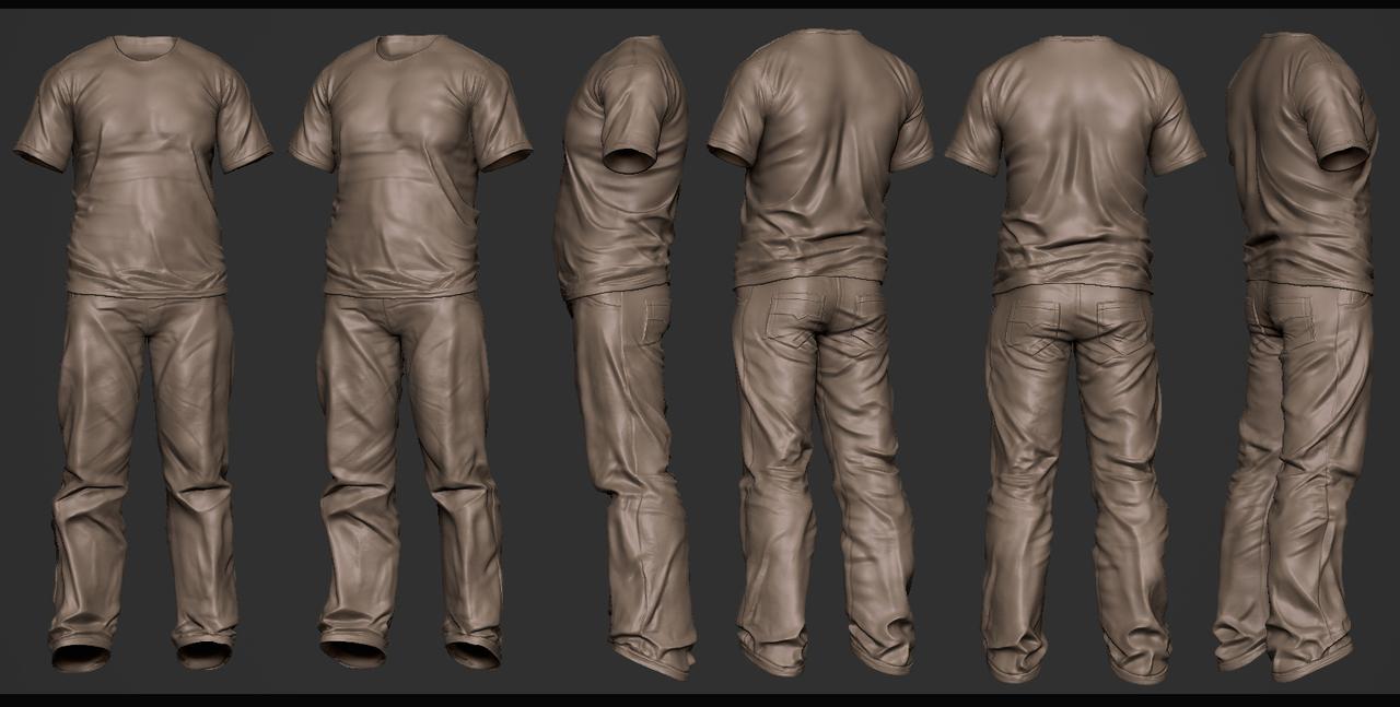 cloth study clay by antone_m