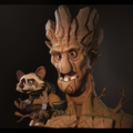 rocket and groot by antone_m