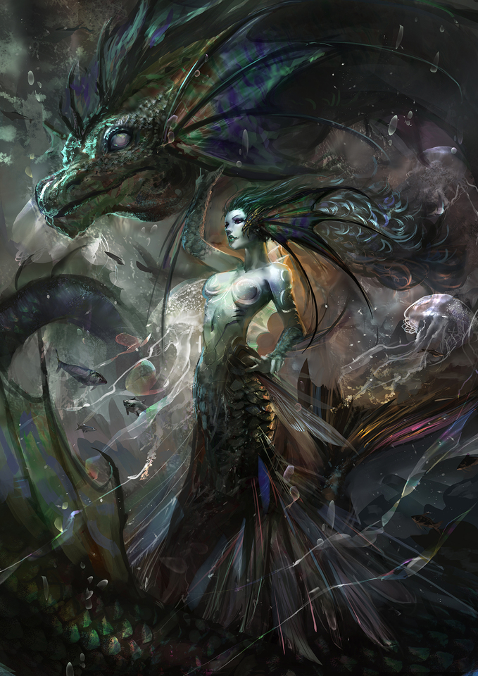 ascension 23- wyvern mermaid by cglas