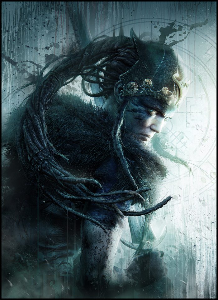 hellblade playstation mag cover by mark_molnar