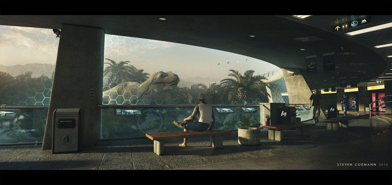 jp t-rex paddock redesign by stevencormann