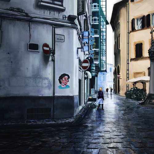 Florence Rainy Day by protagonist