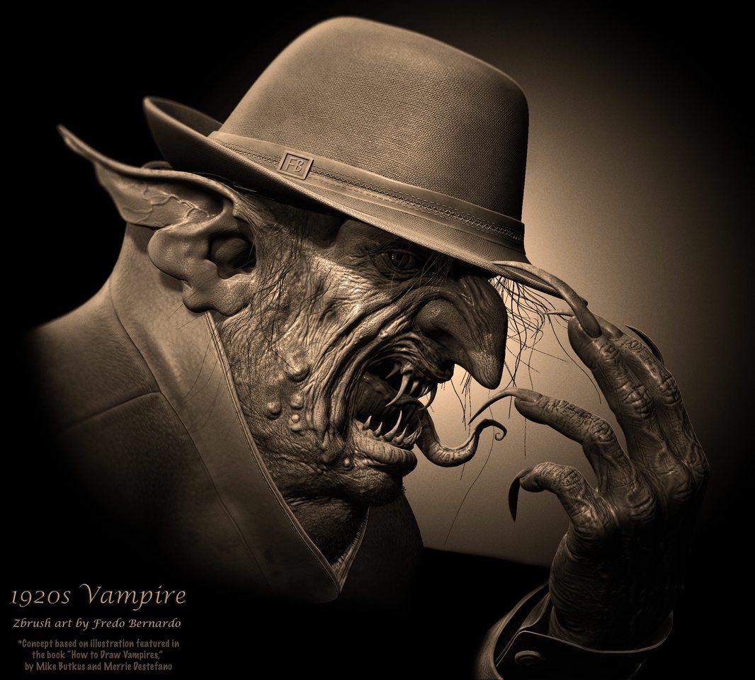 1920s vampire by fluidcube