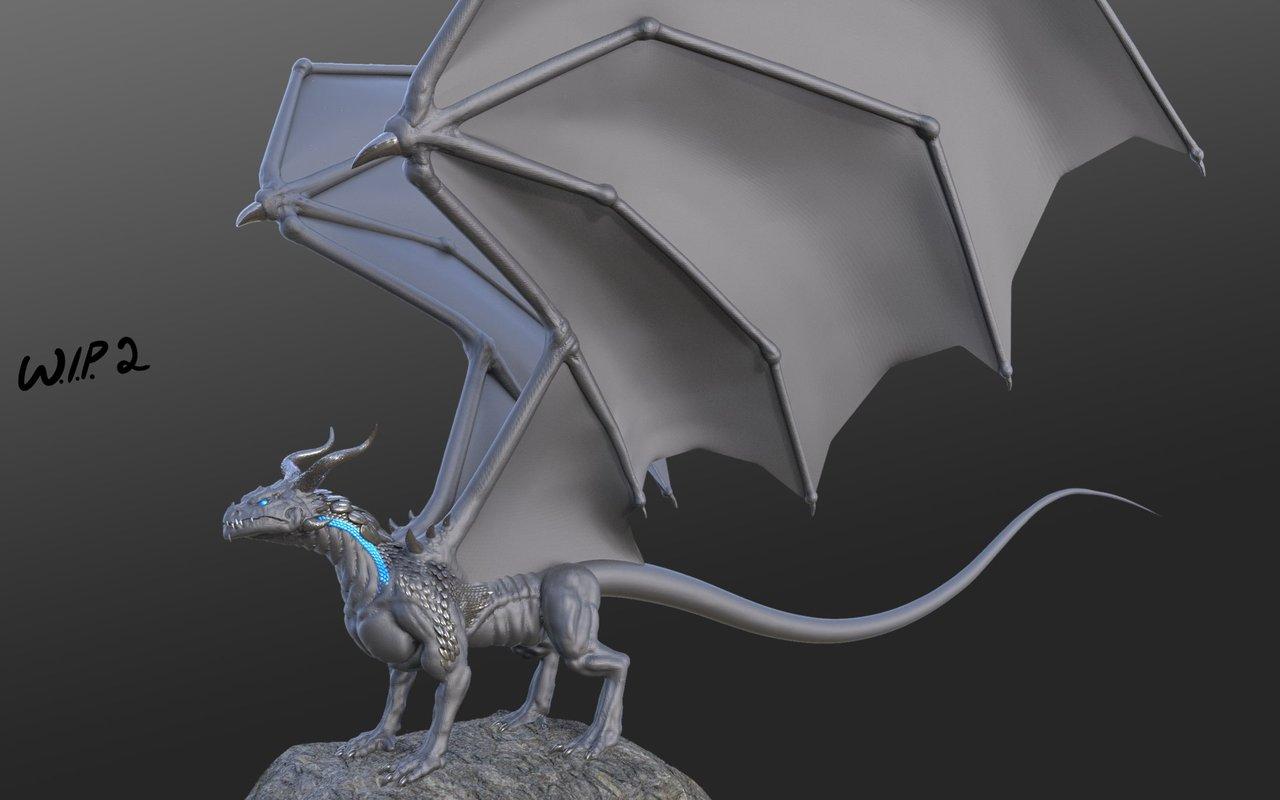 dragon wip 2 by joshpurple