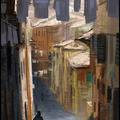 medieval street speedpainting by mark_molnar