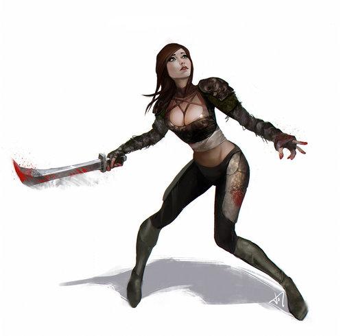 Display jumbo dnd human female rogue by jcom210