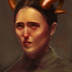 jrbarker horned lady by jrbarker