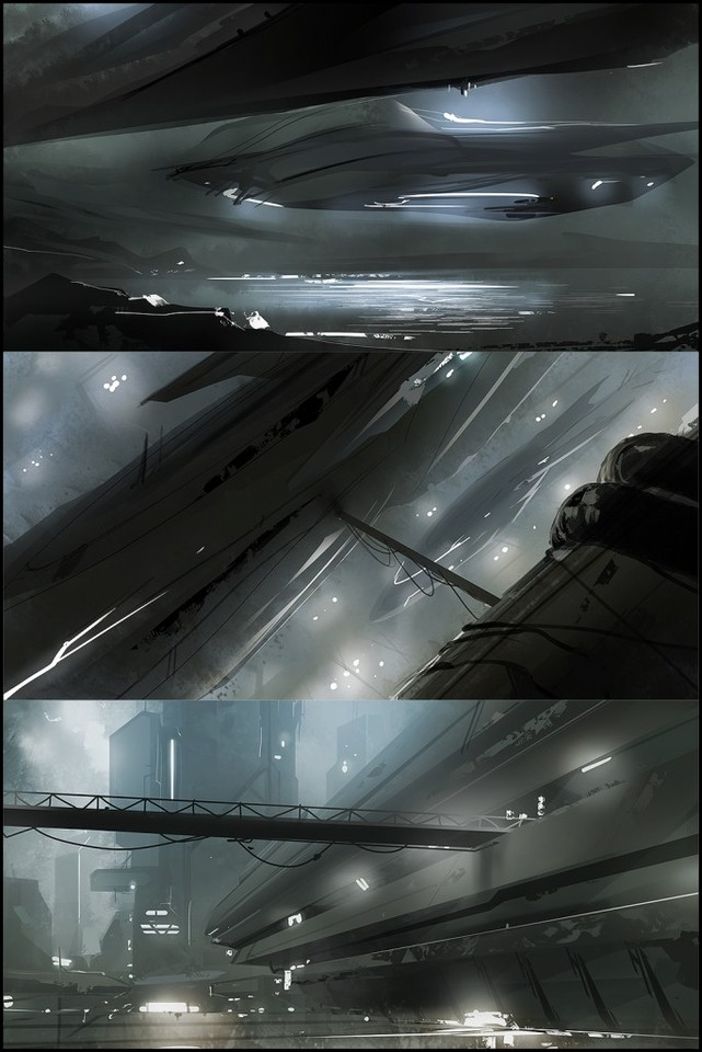 composition sketches 18 - the outer colonies by mark_molnar