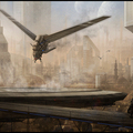 dune ornithopters landing by mark_molnar