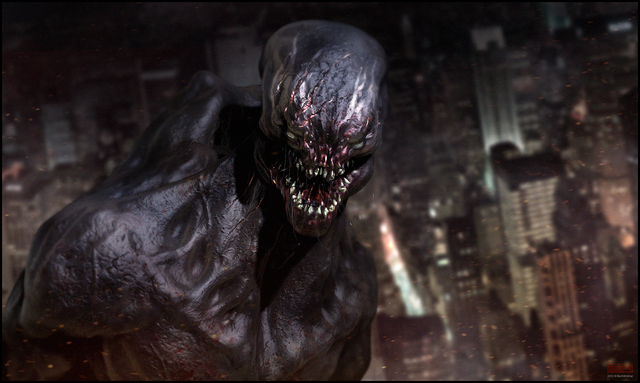venom concept sculpt by mark_molnar