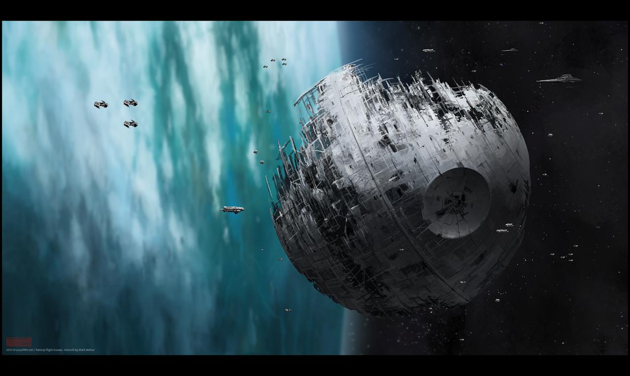 star wars death star 2 by mark molnar. Black Bedroom Furniture Sets. Home Design Ideas
