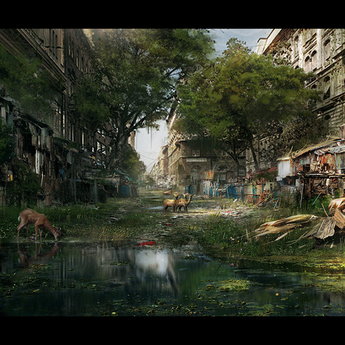 Abandoned City Speedpainting by mark_molnar