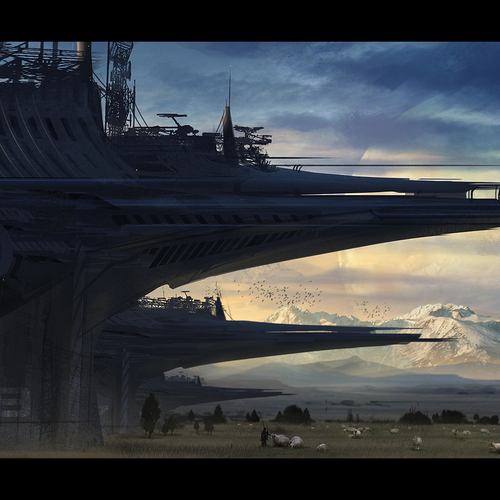 The Guardian Towers Speedpainting by mark_molnar