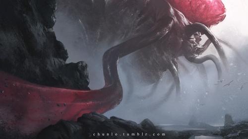 Display jumbo tentacle god