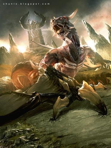 Display jumbo zombie dragon