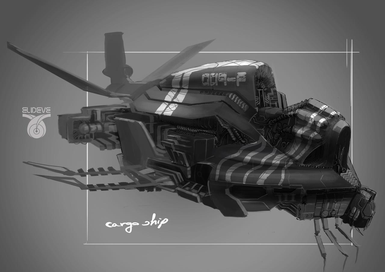 vehicle concept cargo ship by latzkovits