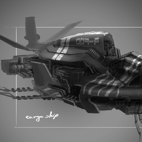 Vehicle Concept Cargo Ship by latzkovits