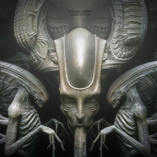 Hr Giger Tribute by santiago_betancur