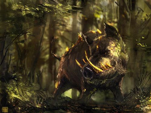 Display jumbo elara   boar guardian by sickbrush d6hm8tf