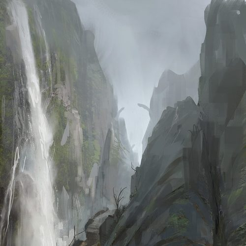 Waterfall by sickbrush