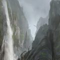 waterfall by sickbrush