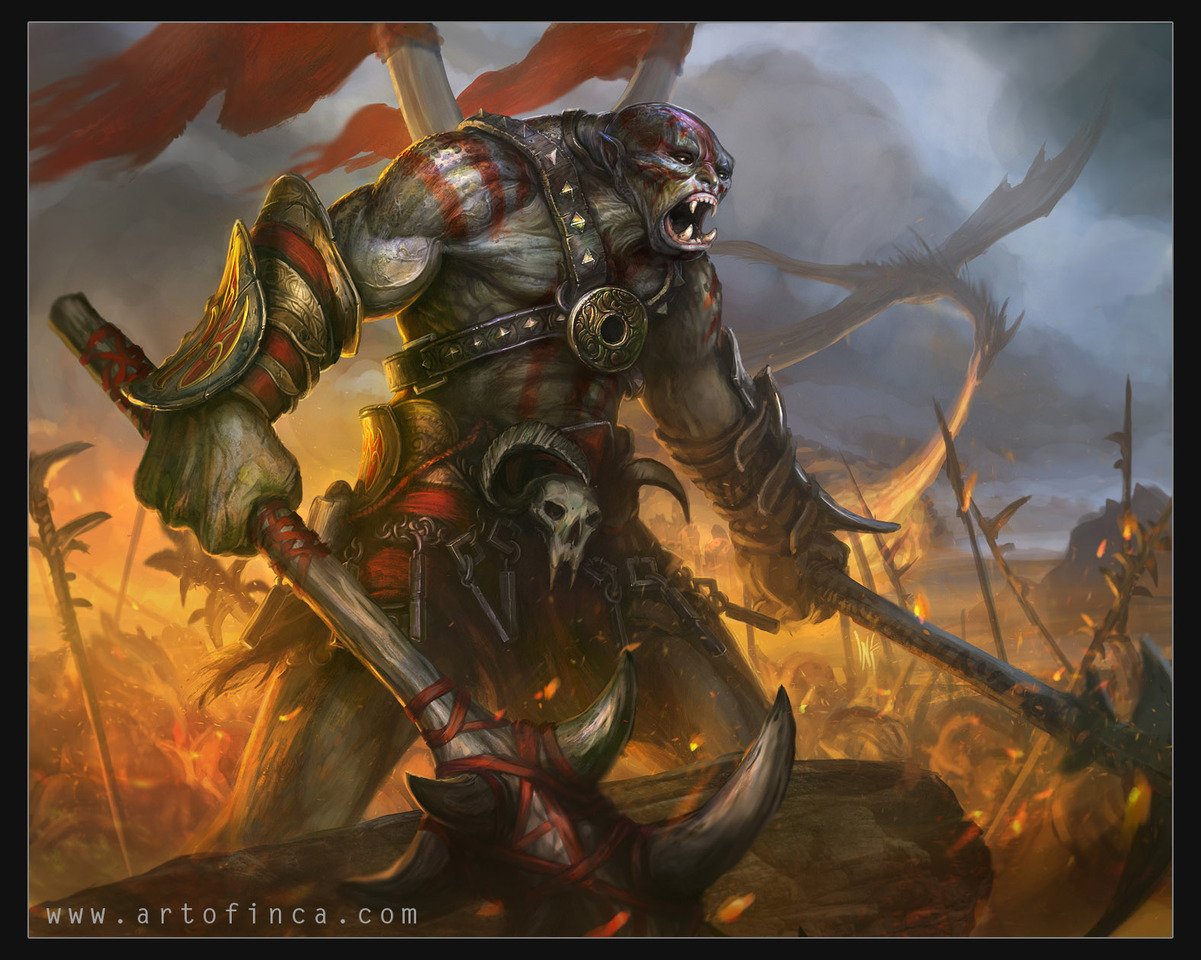 orc warlord by artofinca
