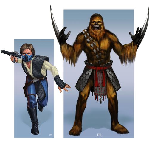 Han Zero And Chewbaraka by mam