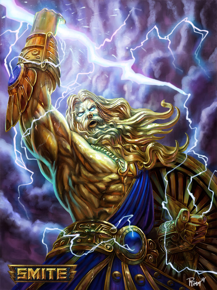 official smite zeus skin by ptimm