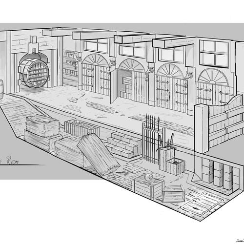 Store Room For Dragon Hunter by yuvrajjha
