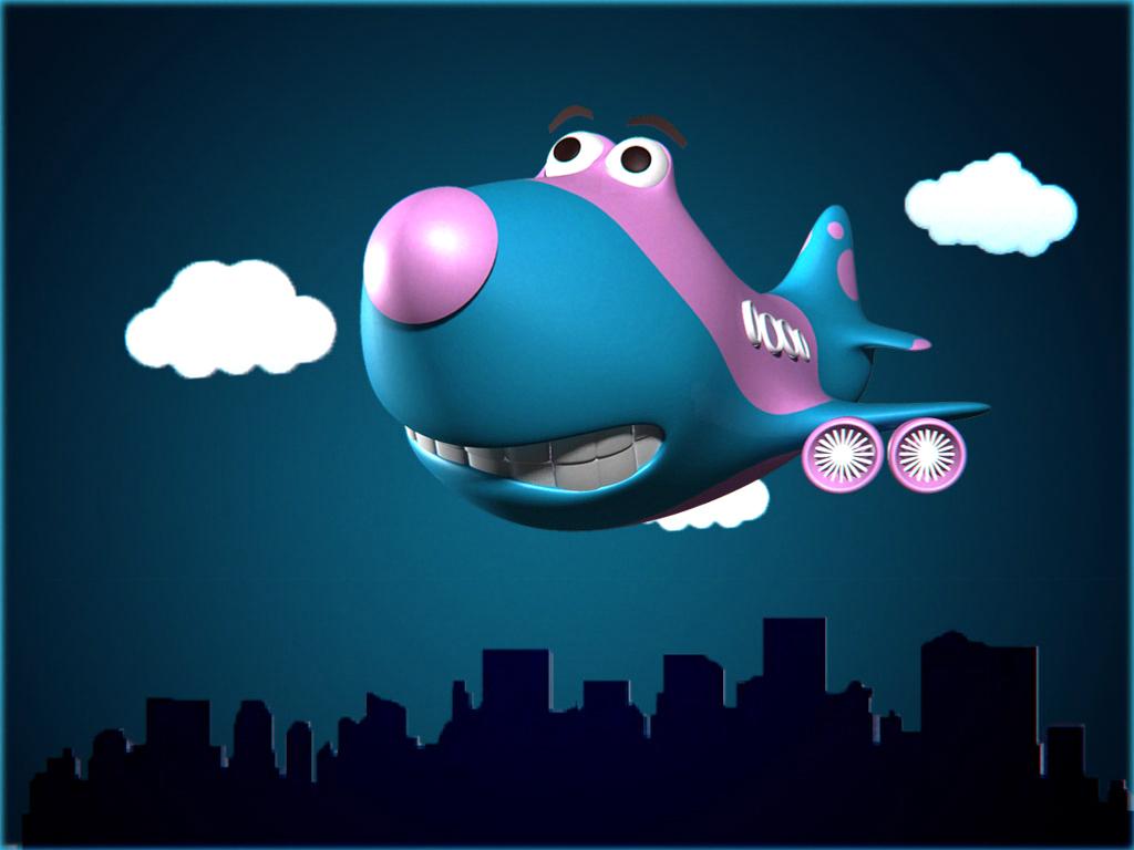 cartoon plane by rizwan
