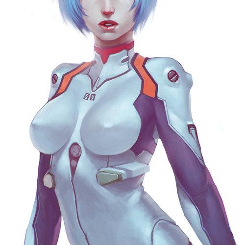 Rei Ayanami by cgsoufiane