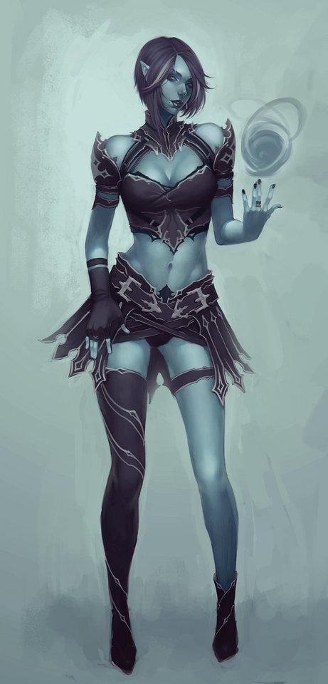 blue witch by cgsoufiane