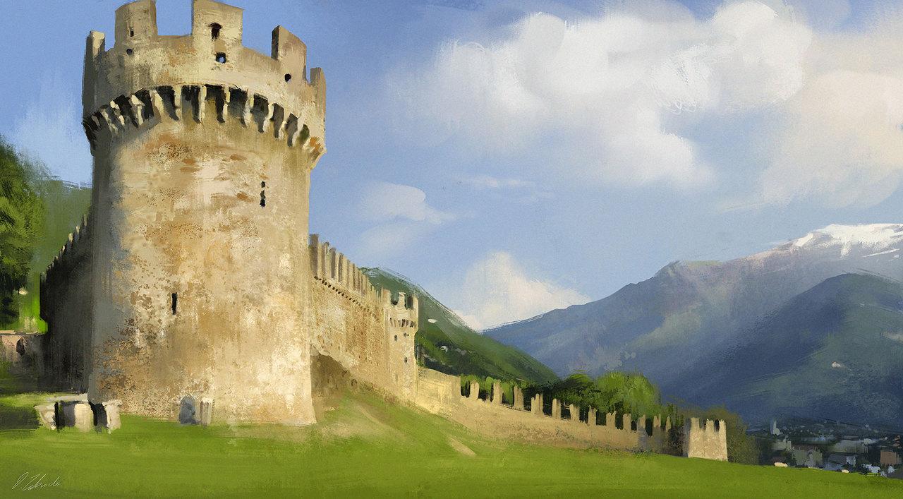 sunny castle by darekzabrocki