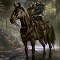 the hound and arya by darekzabrocki